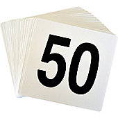 Table Number Card Set 1-50. Great for Catering, Weddings, events