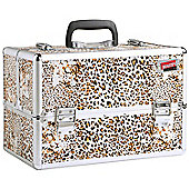 Beautify Large Leopard Print Beauty Cosmetics Make Up Case