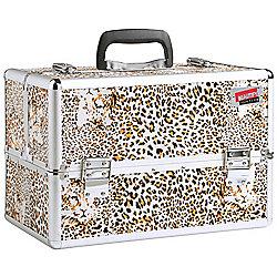 Beautify Large Leopard Print Beauty Cosmetics Make Up Case