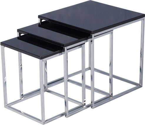 Home Essence Boston Nest of Tables - Black
