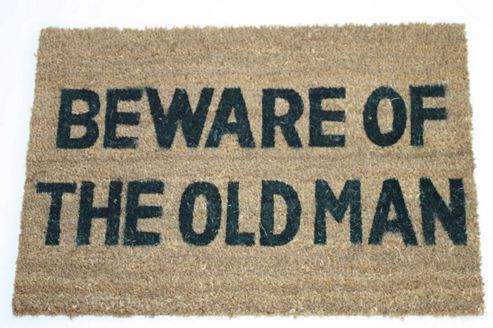 Dandy Beware of The Old Man Doormat - 60cm x 40cm