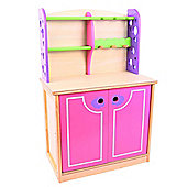 Santoys ST869 Pink and Green Kitchen Dresser
