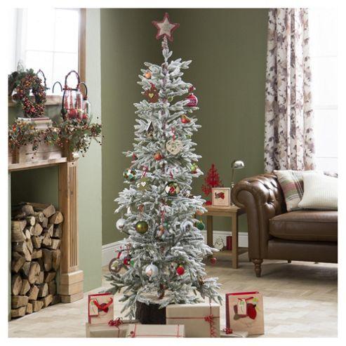 Buy alaskan flocked 6ft christmas tree tesco from our christmas trees