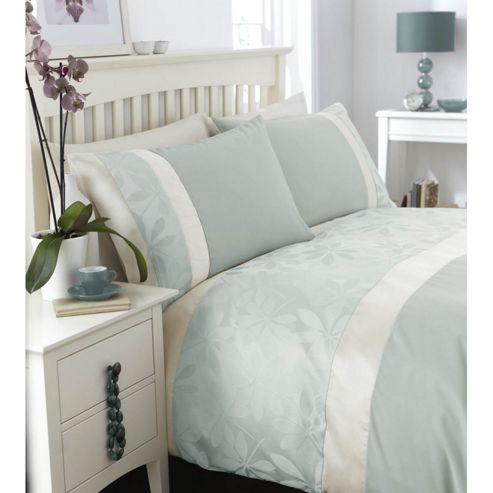 Catherine Lansfield Home Special Purchase Ivory Double Bed Duvet Cover Set Duckegg