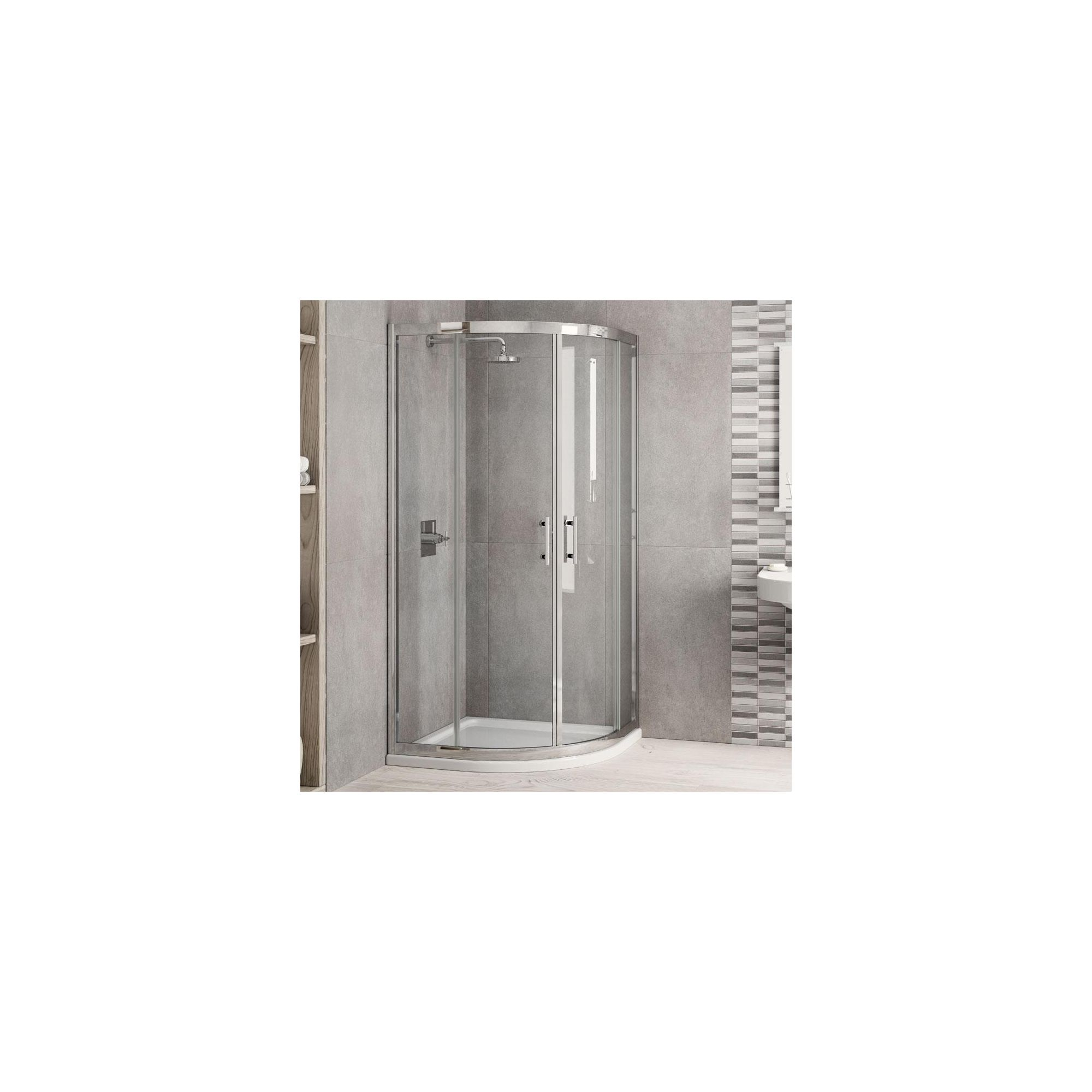 Elemis Inspire Two-Door Quadrant Shower Enclosure, 1000mm x 1000mm, 6mm Glass, Low Profile Tray at Tesco Direct