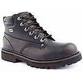 Skechers Mens Cool Cat Bully Black Leather Boots - Black