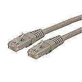 StarTech 15 m Moulded RJ45 Cat6 UTP Gigabit Patch Cable - Grey