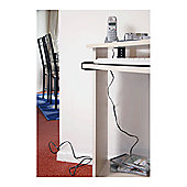 White Discreet Cable Management Solution Tidy Trunking