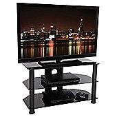 Tru-Vue F-TRU800 Black Glass TV Stand