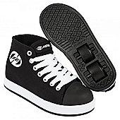 Heelys Fresh Hi Top Black/White Kids Heely X2 Shoe - Black