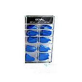 Royal 100 Pre Coloured False Nail Tips-Blue