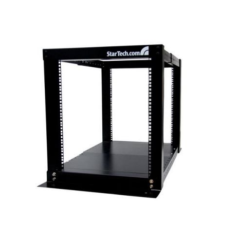 12U Adjustable 4 Post Server Equipment Open Frame Rack Black