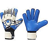Uhlsport Eliminator Supersoft Roll Finger Goalkeeper Gloves Size - White