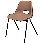 Jemini Stacking Chair Polypropylene Brown