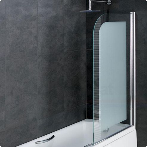 buy duchy rosetta bath screen with frosted 6mm easy clean bath screens shower screens wickes