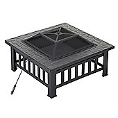 Palm Springs Outdoor Square Fire Pit Design For Brazier/ Patio Heater/ Bbq