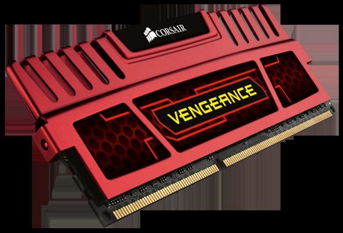 Corsair Vengeance 8GB (2 x 4GB) Memory Kit PC3-15000 1866 MHz. DDR3 DIMM (Red)
