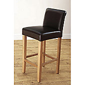 Hawkshead Tuscan Leather Barstool in Dark Brown