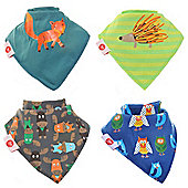 Zippy Woodland Animals Bandana Dribble Bibs, 4 pack, one size