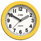 Jones & Co Silicone Fab Clock Yellow