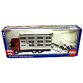 Siku - Livestock Transporter With Cows - 1:50 Scale
