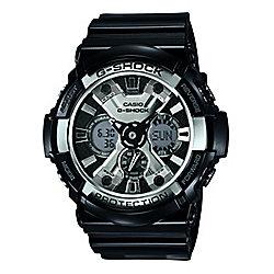 Casio G-Shock Mens Black World Time Stopwatch Watch GA-200BW-1AER