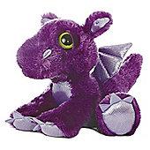 Aurora Dreamy Eyes Dragon 30cm Purple Plush Soft Toy
