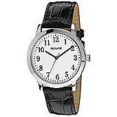 Accurist Gents Black Leather Strap Watch MS674WA