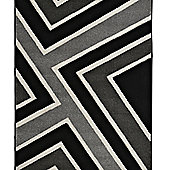 Think Rugs Matrix Black/Grey Rug - 120 cm x 170 cm (3 ft 9 in x 5 ft 7 in)