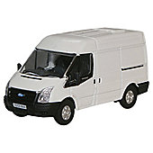 Oxford 1:76 Frozen White New Ford Transit Van (M.Roof)