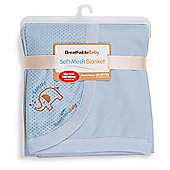 BreathableBaby Soft Mesh Blanket Blue
