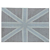 Lorena Canals Flag Grey Contemporary Rug - 138.68 cm W x 198.12 cm D