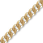 Jewelco London 9ct Solid Gold premium Curb Chain Necklace in 18 inch - 7mm gauge