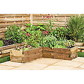 Timberdale Caledonian Corner Raised Bed 1.3mx1.3m