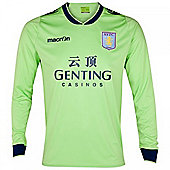2012-13 Aston Villa Macron Away Long Sleeve Shirt - Green