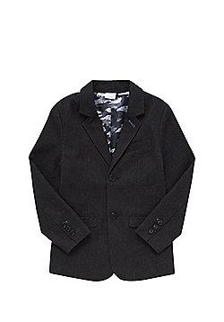 F&F Herringbone Blazer - Charcoal grey