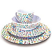 Berrow Hill 16 Piece Melamine Set (4 Person)