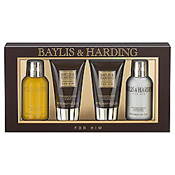 Baylis & Harding Men's Black Pepper & Ginseng 4 Piece Box