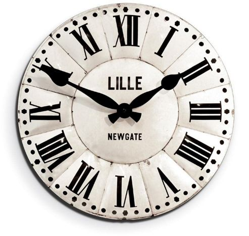 buy newgate lille tin antique style wall clock from our. Black Bedroom Furniture Sets. Home Design Ideas