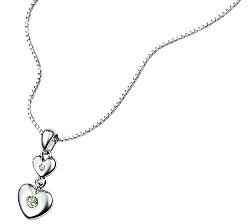 Children's D for Diamond August Birthstone Pendant - Peridot