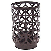 Atlas Metal Cut Out Tealight Holder Brown Small
