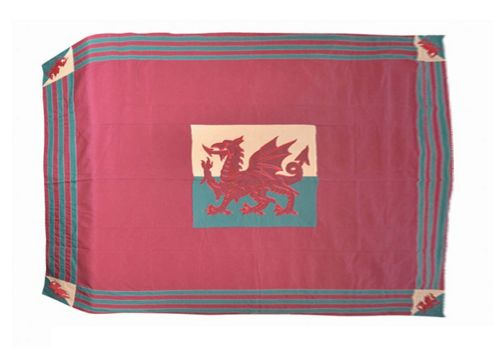 Woven Magic Wales Flag Patriotic Duck Table Cloth - Small