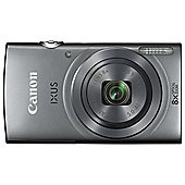 Canon IXUS 160 Digital Camera, 20MP, 8x Optical Zoom, Silver