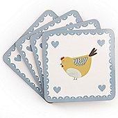 David Mason Design Chirpy Chicks Coasters (Set of 4)