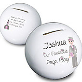 Personalised Fabulous Page Boy Money Box