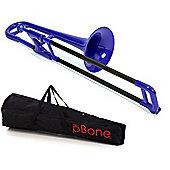 pBone Plastic Mini Trombone - Blue