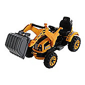 Homcom Kids Electric Ride On Toy 6V Battery Operated Excavator Tractor Digger Dumper Yellow