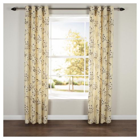 Allium Eyelet Curtains W117xL183cm (46x72'') - Citrus