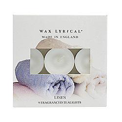Wax Lyrical Linen Tea Lights - 8 Pack