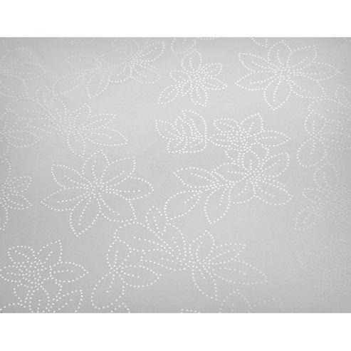 Blue Canyon Rosetta Set Table Cloth - White - 137cm x 183cm (4-6 Seatings)